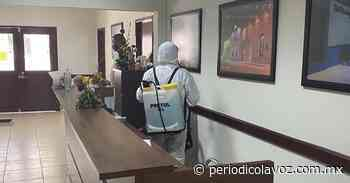 Sanitizan Presidencia de San Buenaventura - Periódico La Voz