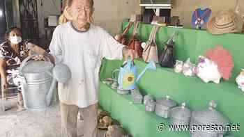 Con 93 años, crea artesanías de hojalatería en Izamal - PorEsto