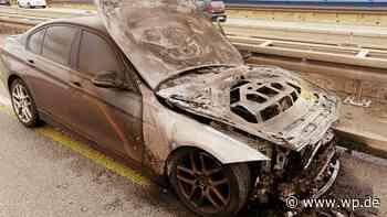 Wilnsdorf: BMW brennt auf dem Weg nach Siegen aus - Westfalenpost