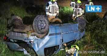 Unfall auf B5 bei Geesthacht: Auto überschlägt sich - Lübecker Nachrichten