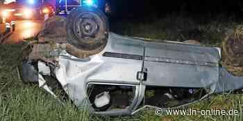 Unfall bei Geesthacht: Auto überschlägt sich – LN - Lübecker Nachrichten