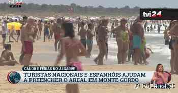 Turistas portugueses e espanhóis começam a encher o areal de Monte Gordo - TVI24