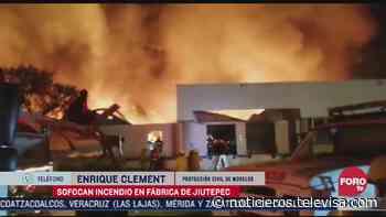 Saldo blanco tras incendio en fábrica en Jiutepec, Morelos - Noticieros Televisa