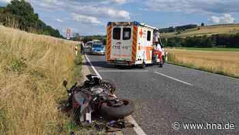 Unfall auf der B324: Motorradfahrer schwer verletzt - hna.de