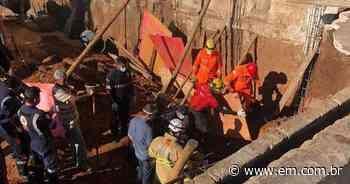 Deslizamento em obra deixa trabalhadores soterrados em Sarzedo - Estado de Minas