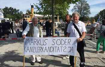 Söder will nicht auf Kanzlerkandidaten-Schild unterschreiben - Prien am Chiemsee - Passauer Neue Presse