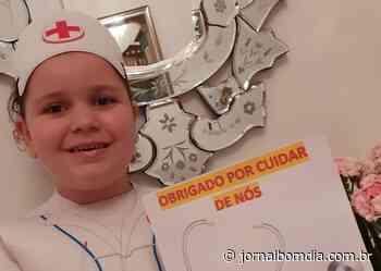 Crianças da Educação Infantil do São José homenageiam os profissionais da Saúde - Jornal Bom Dia