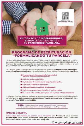 Michaelle Brito conmina a ciudadanía de Tlaxco a regularizar sus propiedades - e-Tlaxcala Periódico Digital de Tlaxcala