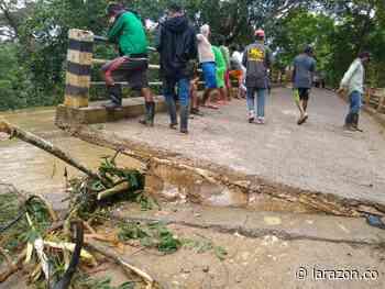 Puente en zona rural de Canalete al borde del colapso tras intensas lluvias - LA RAZÓN.CO