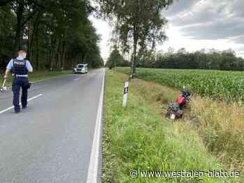 Unfall: Motorradfahrer schwer verletzt - Westfalen-Blatt