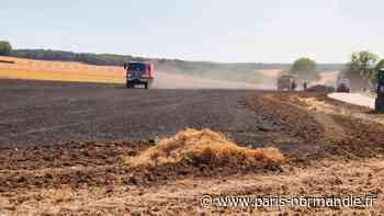 À côté de Gisors, une dizaine d'hectares partent en fumée dans l'Oise - Paris-Normandie