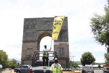 Ante Bandera Amarilla, refuerza SSP labores contra Covid 19 en Zacapu - Quadratín Michoacán