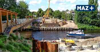 Neubau der Rammrathbrücke zwischen Teltow und Kleinmachnow geht zügig voran - Märkische Allgemeine Zeitung