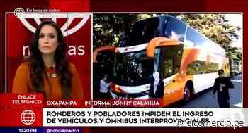Pobladores impiden el paso a buses interprovinciales en Oxapampa - El Comercio Perú