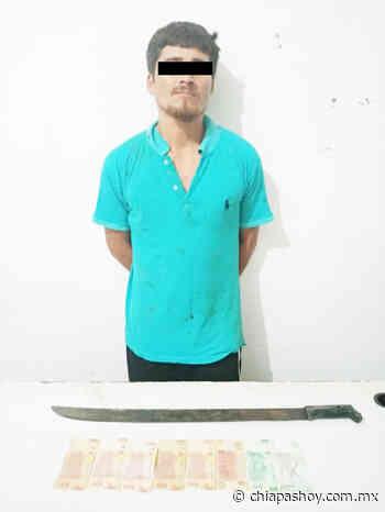 Detiene PEP a presunto asaltante en Huixtla - ChiapasHoy
