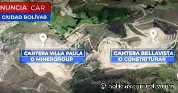 Suspenden dos proyectos mineros en Ciudad Bolívar que estarían afectando recursos naturales - Noticias Caracol