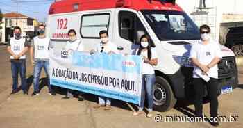 SAÚDE | Pontes e Lacerda recebe ambulância da JBS - MinutoMT