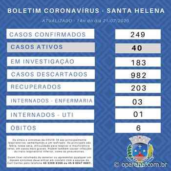 Santa Helena registra 6° óbito de uma vítima do novo coronavírus - O Paraná