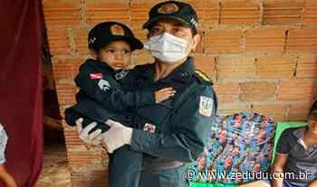 Menino que sonha ser policial militar recebe doações da PM em Paragominas - Blog do Zé Dudu