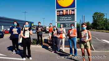 Devant le Lidl du Grand-Quevilly, l'association L214 dénonce la maltraitance infligée aux volailles - Paris-Normandie