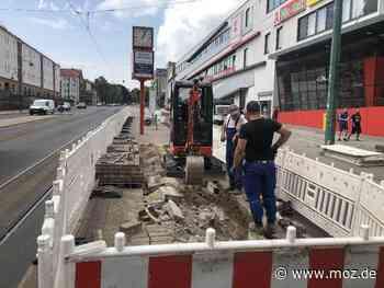 Baustelle: Vorarbeiten an der Haltestelle Zentrum in Frankfurt (Oder) beginnen - Märkische Onlinezeitung