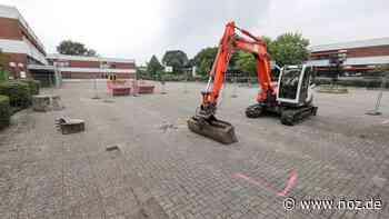 Darum steht ein Bagger auf dem Hof des Schulzentrums Dissen - noz.de - Neue Osnabrücker Zeitung
