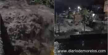 Muestra el agua su poder en barranca de Jiutepec, tras lluvia y granizada - Diario de Morelos