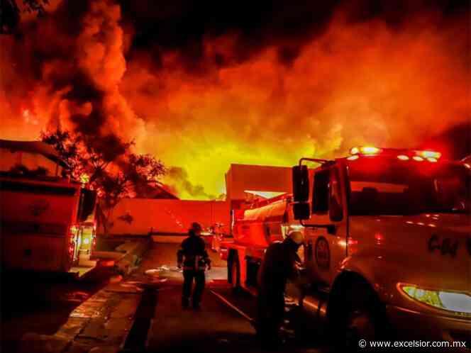 Arde zona industrial en Jiutepec, Morelos - Periódico Excélsior
