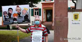 """Mosbach: """"Justiz-Opfer""""-Vorsitzender demonstrierte für transparentere Justiz - Rhein-Neckar Zeitung"""