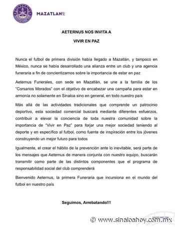 Mazatlan FC suma nuevo patrocinador: te vas a morir cuando sepas quién es. - Sinaloahoy