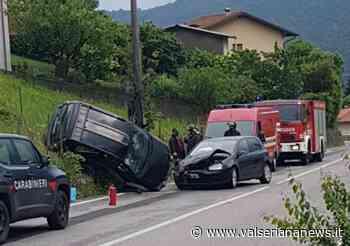Ribaltamento a Sovere, due i feriti - Valseriana News - Valseriana News