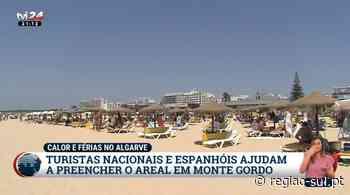 Turistas portugueses e espanhóis começam a encher o areal de Monte Gordo – TVI - Região Sul