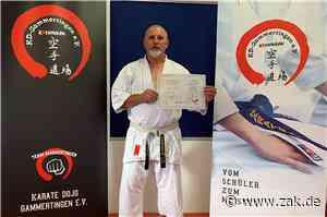 Hohe Auszeichnung: Hans Ruff vom Gammertinger Karate Dojo erhält die Ehrennadel in Platin - Zollern-Alb-Kurier