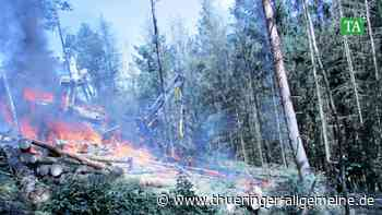 Stedtfeld: 300.000 Euro Schaden bei Brand einer Holzerntemaschine - Thüringer Allgemeine