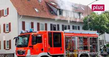 Hunderttausende Euro Schaden bei Dachbrand in Lampertheim - Echo Online