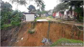 Uyo residents raise alarm over threat of gully erosion - Daily Post Nigeria