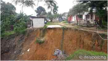 Uyo residents raise alarm over threat of gully erosion - Daily Post Nigeria