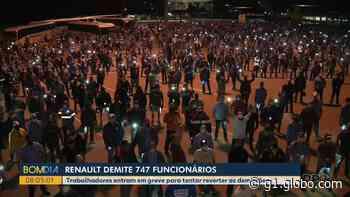 Funcionários da fábrica da Renault em São José dos Pinhais entram em greve após demissão de 747 trabalhadores - G1
