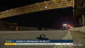Homem morre atropelado na BR-277, em São José dos Pinhais - G1