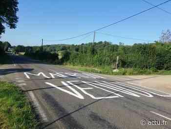 Jura. Des tags hostiles à Macron sur la route entre Lons-le-Saunier et Orgelet - actu.fr