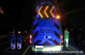 POL-OF: Schwertransport verfängt sich in einer Baustelle, Hanau-Steinheim/B 43a * Unfallflucht trotz... - Presseportal.de