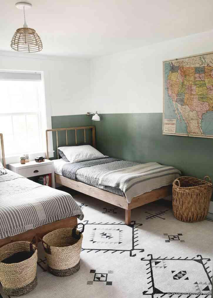 DIY Wood Dowel Twin Bed