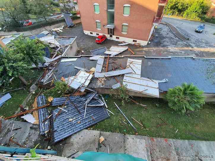 """Tromba d'aria, Cossato conta i danni. Moggio: """"Alla Pichetta volato via tetto. Si è evitata una tragedia"""" - newsbiella.it"""