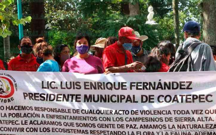 Integrantes de la CIOAC niegan invadir predio de Coatepec - Diario de Xalapa
