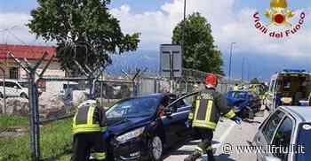 Tamponamento a catena ad Aviano - Il Friuli