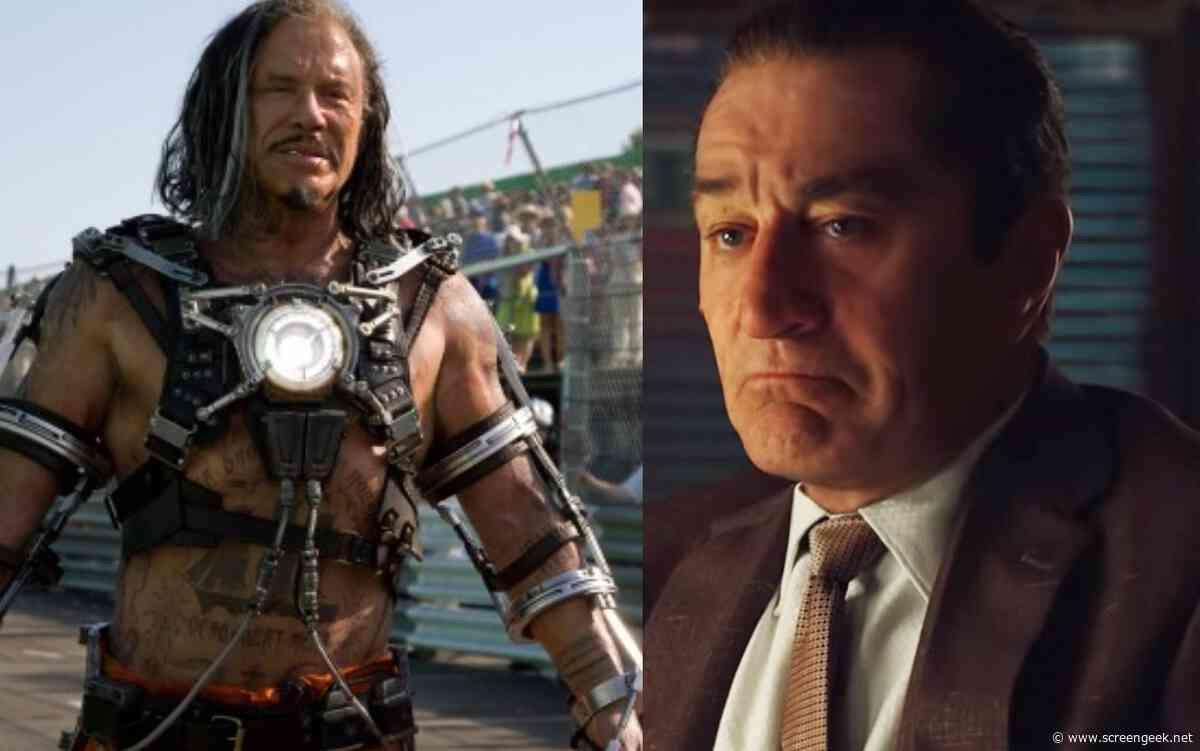 Mickey Rourke Threatens Robert De Niro In Now Deleted Instagram Post - ScreenGeek