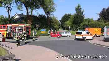 20-jährige Frau von Sonne geblendet: Unfall in Ense-Höingen - zwei Personen verletzt - Soester Anzeiger