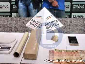 Casal é preso por tráfico de drogas em Coronel Fabriciano - Jornal Diário do Aço