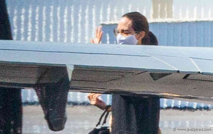 Angelina Jolie Lands Back in L.A. After Flying Private with Her Kids