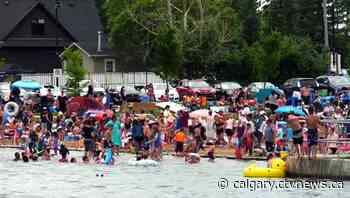 Chestermere announces new capacity limits on beaches following overcrowding amid COVID-19 concerns - CTV News